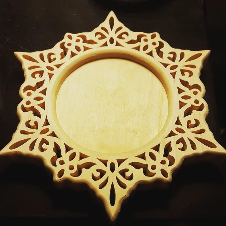 candle holder scroll saw wood craft