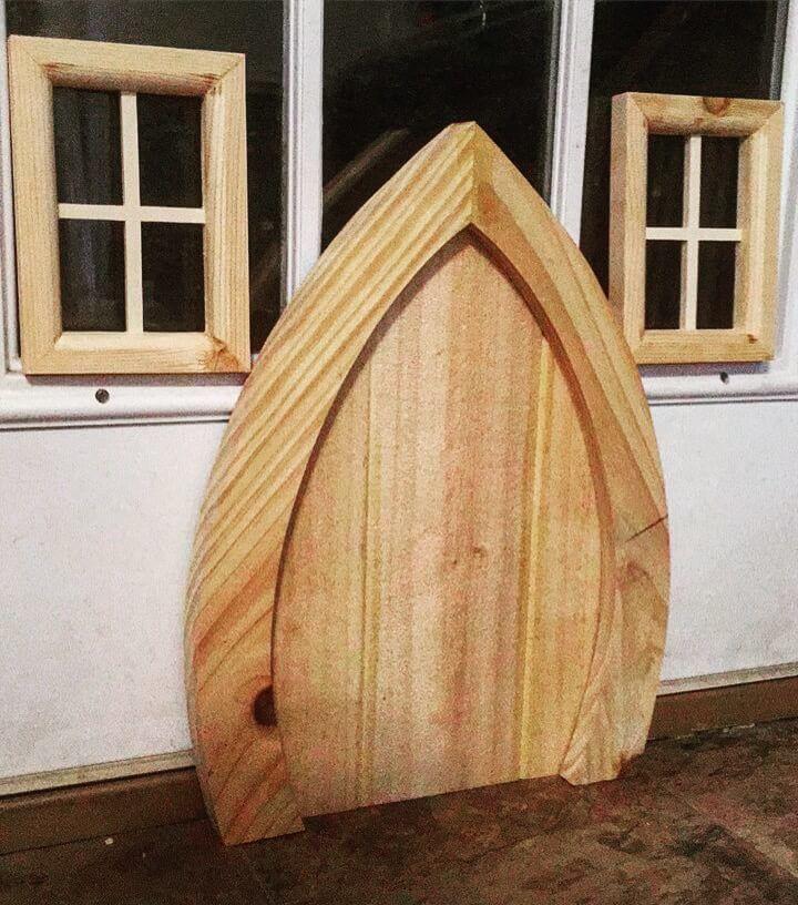 custom woodwork garden gnome door windows