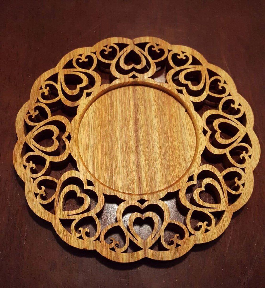wooden heart candleholder handmade crafts