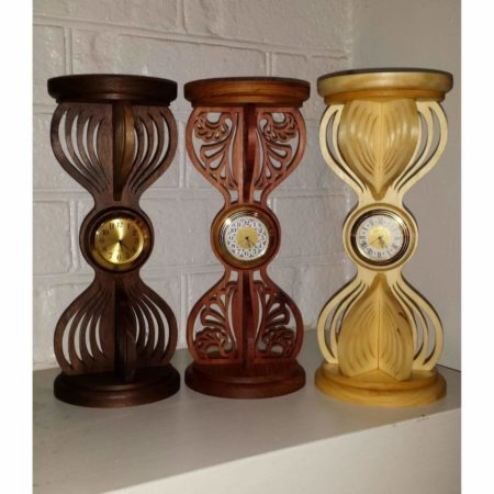 wooden hourglass clocks