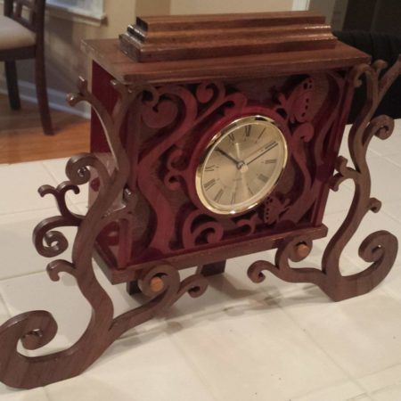 clock scroll saw pattern tree house
